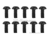 Hosim 9156 Parts-LS14 Round head screw(10pcs)-2.5x6x5PWMHO,Hosim 9156 RC Car Parts