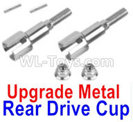 XinLeHong Toys 9137 Parts-Upgrade Metal Rear Drive Cup assembly Parts(Original Plastic),Differential Cup(2pcs)-WJ04,XinLeHong Toys 9137 Parts-Parts