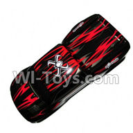 XinleHong Toys 9115 Parts-Body Shell-Car canopy,Shell cover-Red Parts-SJ01,XinleHong 9115 RC Truck Buggy Parts