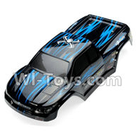 XinleHong Toys 9115 Parts-Body Shell-Car canopy,Shell cover-Blue Parts-SJ02,XinleHong 9115 RC Truck Buggy Parts