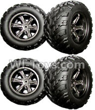 XinleHong Toys 9115 Parts-The Left and Right Wheel(Total 4pcs) Parts-ZJ01,XinleHong 9115 RC Truck Buggy Parts