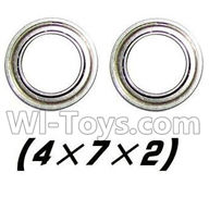 XinleHong Toys 9115 Parts-Bearing-4x7x2mm-2pcs Parts-WJ08,XinleHong 9115 RC Truck Buggy Parts