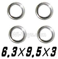 XinleHong Toys 9115 Parts-Bearing-6.3x9.5x3mm-4pcs Parts-WJ09,XinleHong 9115 RC Truck Buggy Parts