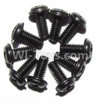 XinleHong Toys 9115 Parts-Screws-Round head screws with meson(M2.5x6x5)-10PCS Parts-LS14,XinleHong 9115 RC Truck Buggy Parts