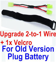 XinleHong Toys 9115 Parts-Upgrade 2-to-1 wire and Velcro-Two battery can be used together,Run 2x Time than usual Parts-,XinleHong 9115 RC Truck Buggy Parts