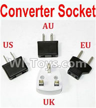 XinleHong Toys 9115 Parts-Standard Adapter Universal Converter Socket(You can shoose AU,US,EU,UK Version) Parts-,XinleHong 9115 RC Truck Buggy Parts