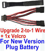 XinleHong Toys 9115 Parts-Battery-New version Upgrade 2-to-1 wire and Velcro-Two battery can be used together,Run 2x Time than usual,Can be usde for Ner version JYRC XinleHong Toys 9115 Parts-S911 RC Monster Truck