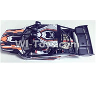XinleHong Toys 9120 Parts-SJ01 Car canopy,Car Shell cover-Orange,JYRC XinleHong Toys 9120 Racing Sprint RC Monster Truck Spare parts Accessories,9120 1:12 4WD Brush High Speed Buggy Parts