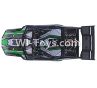 XinleHong Toys 9120 Parts-SJ02 Car canopy,Car Shell cover-Green,JYRC XinleHong Toys 9120 Racing Sprint RC Monster Truck Spare parts Accessories,9120 1:12 4WD Brush High Speed Buggy Parts