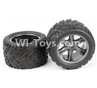 XinleHong Toys 9120 Parts-ZJ01 The Left and Right Wheel(Total 2pcs),JYRC XinleHong Toys 9120 Racing Sprint RC Monster Truck Spare parts Accessories,9120 1:12 4WD Brush High Speed Buggy Parts