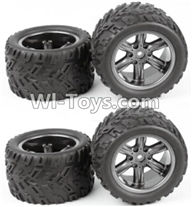 XinleHong Toys 9120 Parts-ZJ01 The Left and Right Wheel(Total 4pcs),JYRC XinleHong Toys 9120 Racing Sprint RC Monster Truck Spare parts Accessories,9120 1:12 4WD Brush High Speed Buggy Parts
