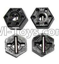 XinleHong Toys 9120 Parts-ZJ07 12mm Hexagonal round Adapter,12mm Hexagonal round Seat(Total 4pcs),JYRC XinleHong Toys 9120 Racing Sprint RC Monster Truck Spare parts Accessories,9120 1:12 4WD Brush High Speed Buggy Parts