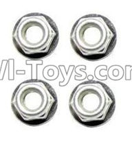 XinleHong Toys 9120 Parts-WJ02 Anti-loose Screw nut(4pcs),JYRC XinleHong Toys 9120 Racing Sprint RC Monster Truck Spare parts Accessories,9120 1:12 4WD Brush High Speed Buggy Parts