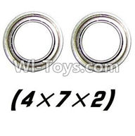 XinleHong Toys 9120 Parts-WJ08 Bearing-4x7x2mm-2pcs,JYRC XinleHong Toys 9120 Racing Sprint RC Monster Truck Spare parts Accessories,9120 1:12 4WD Brush High Speed Buggy Parts