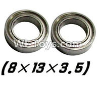 XinleHong Toys 9120 Parts-WJ10 Bearing- 8x13x3.5mm-2pcs,JYRC XinleHong Toys 9120 Racing Sprint RC Monster Truck Spare parts Accessories,9120 1:12 4WD Brush High Speed Buggy Parts