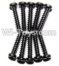 XinleHong Toys 9120 Parts-LS06 Round head screws(M2.3x10)-10PCS,JYRC XinleHong Toys 9120 Racing Sprint RC Monster Truck Spare parts Accessories,9120 1:12 4WD Brush High Speed Buggy Parts