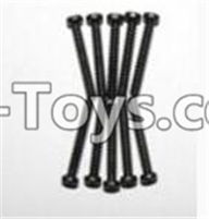 XinleHong Toys 9120 Parts-LS08 Round head screws(M2.3x16)-10PCS,JYRC XinleHong Toys 9120 Racing Sprint RC Monster Truck Spare parts Accessories,9120 1:12 4WD Brush High Speed Buggy Parts