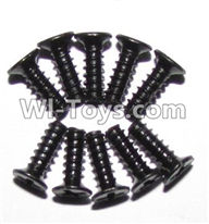 XinleHong Toys 9120 Parts-LS10 Round head screws(M2.6x8)-10PCS,JYRC XinleHong Toys 9120 Racing Sprint RC Monster Truck Spare parts Accessories,9120 1:12 4WD Brush High Speed Buggy Parts