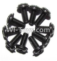 XinleHong Toys 9120 Parts-LS14 Round head screws with meson(M2.5x6x5)-10PCS,JYRC XinleHong Toys 9120 Racing Sprint RC Monster Truck Spare parts Accessories,9120 1:12 4WD Brush High Speed Buggy Parts