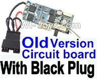 XinleHong Toys 9120 Parts-Old version Circuit board With Black Plug,JYRC XinleHong Toys 9120 Racing Sprint RC Monster Truck Spare parts Accessories,9120 1:12 4WD Brush High Speed Buggy Parts