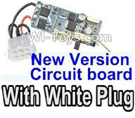 XinleHong Toys 9120 Parts-New version Circuit board with White plug,JYRC XinleHong Toys 9120 Racing Sprint RC Monster Truck Spare parts Accessories,9120 1:12 4WD Brush High Speed Buggy Parts