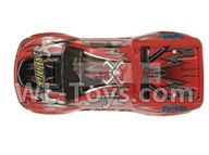 Hosim 9130 Parts-Body shell-RC Car canopy,Car Shell cover-Red Parts-SJ01,Hosim 9130 RC Car Parts
