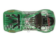 Hosim 9130 Parts-Body shell-RC Car canopy,Car Shell cover-Green Parts-SJ01,Hosim 9130 RC Car Parts