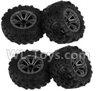 Hosim 9130 Parts-Wheel-Whole wheel unit(4pcs) Parts-ZJ02,Hosim 9130 RC Car Parts