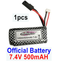 Hosim 9130 Parts-Battery,Akku-Official 7.4V 500mah Battery(1pcs) Parts,Hosim 9130 RC Car Parts