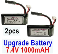 Hosim 9130 Parts-Battery,Akku-Upgrade 7.4V 800MAH Battery(2pcs) Parts,Hosim 9130 RC Car Parts