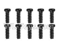 Hosim 9130 Parts-screws-Pan head Cross recessed screws(10PCS)-2.3×12PBHO Parts-LS02,Hosim 9130 RC Car Parts