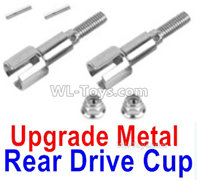 XinLeHong Toys Q902 Parts-Upgrade Metal Rear Drive Cup assembly(Original Plastic),Differential Cup(2pcs)-QWJ02,XinLeHong Toys Q902 RC Car Parts