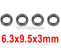 XinLeHong Toys Q902 Parts-Bearing(4pcs)-6.3X9.5X3mm-WJ09,XinLeHong Toys Q902 RC Car Parts