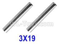 XinLeHong Toys 9145 Parts-Optical axis-3×19mm,Total 2pcs,45-WJ02,XinLeHong Toys 9145 RC Car Parts,XinLeHong Toys 1/20 Parts