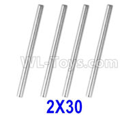 XinLeHong Toys 9145 Parts-Optical axis-2×30mm,Total 4pcs,45-WJ04,XinLeHong Toys 9145 RC Car Parts,XinLeHong Toys 1/20 Parts