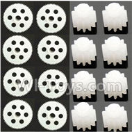 SYMA X5S X5SW X5SC Parts-46 Main gear(8pcs) & Small motor gear(8pcs) For SYMA X5S X5SC X5SC Quadcopter UFO parts