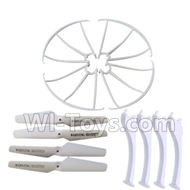 SYMA X5S X5SW X5SC Parts-59 Outer protect frame(4pcs) & Propellers(4pcs) & Landidng skid(4pcs)-White For SYMA X5S X5SC X5SC Quadcopter UFO parts