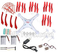 SYMA X5S X5SW X5SC Parts-67 Outer protect frame(4pcs) & Propellers(20pcs) & Landidng skid(4pcs) & Main gear & Battery(2pcs) & Main gear(4pcs) & Light cover(4pcs) & Light board(2pcs) For SYMA X5S X5SC X5SC Quadcopter UFO parts