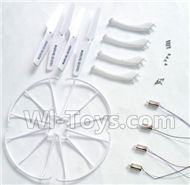 SYMA X5S X5SW X5SC Parts-68 Outer protect frame(4pcs) & Landing skid(4pcs) & Main motor(4pcs) & Propellers(4pcs) For SYMA X5S X5SC X5SC Quadcopter UFO parts