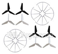 SYMA X5S X5SW X5SC Parts-69 Outer protect frame(8pcs) & Upgrade Tripod Rotor blade(8pcs) For SYMA X5S X5SC X5SC Quadcopter UFO parts