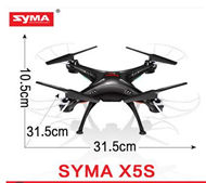 SYMA X5S Quadcopter -Black (Not include the Camera unit,with headless mode function) For SYMA X5S X5SC X5SC Quadcopter UFO parts