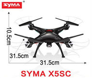 SYMA X5SC Quadcopter-Black (include the 2,000,000 Pixels Camera unit,with the headless mode function) For SYMA X5S X5SC X5SC Quadcopter UFO parts