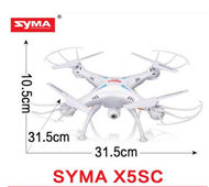 SYMA X5SC Quadcopter-White (include the 2,000,000 Pixels Camera unit,with the headless mode function) For SYMA X5S X5SC X5SC Quadcopter UFO parts
