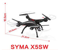 SYMA X5SW Quadcopter-Black (include the 300,000 Pixels Camera unit,with FPV Real-time transmission By your phone ,and with the headless function) For SYMA X5S X5SC X5SC Quadcopter UFO parts