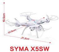 SYMA X5SW Quadcopter-White (include the 300,000 Pixels Camera unit,with FPV Real-time transmission By your phone ,and with the headless function) For SYMA X5S X5SC X5SC Quadcopter UFO parts