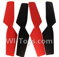 SongYang toys X11 Parts-04 Main rotor blades,Propellers(4pcs)-2pcs Red And 2pcs Black For the SY X11 UFO X-11 RC Quadcopter