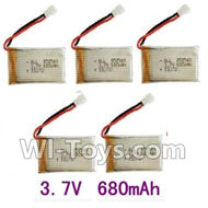 SongYang toys X11 Parts-25 Upgrade 3.7v 680mah battery for SongYang X6 Quadcopter(5pcs) For the SY X11 UFO X-11 RC Quadcopter