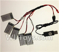 SongYang toys X11 Parts-30 USB Charger wire & Upgrade 1-to-5 Conversion wire((Not include the 5 battery) For the SY X11 UFO X-11 RC Quadcopter