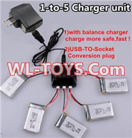 SongYang toys X2 Parts-21 Upgrade 1-to-5 charger and balance charger & USB-TO-socket Conversion plug(Not include the 5 battery) For the SongYang toys X2 RC Quadcopter UFO,Drone,helicopter parts