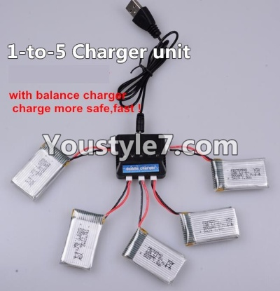 SongYang toys X22 Parts-27 Upgrade 1-to-5 charger and balance charger(Not include the 5 battery) For the SY X22 UFO X-22 RC Quadcopter